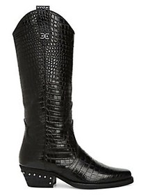 Sam Edelman Oakland Embossed Leather Cowboy Boots
