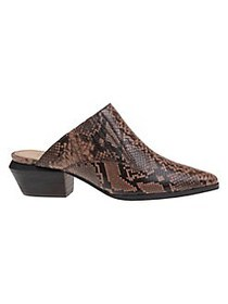 Splendid Hailee II Snakeskin-Print Point-Toe Leath