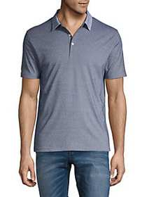 Black Brown 1826 Short Sleeve Polo Shirt SLATE BLU