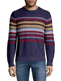 Black Brown 1826 Banded Stripe Cotton Sweater DUST
