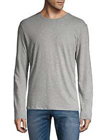 Black Brown 1826 Long Sleeve Crewneck Tee DARK CEM