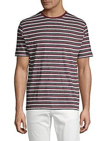 Black Brown 1826 Heathered Striped Tee BRIGHT BURG
