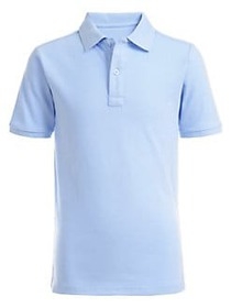 Nautica Boy's Pique Polo Shirt LIGHT BLUE