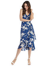 The Limited Cold Shoulder Floral Ruffle Hi Lo Dres