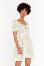 Nasty Gal Womens White Be-Leaf in Yourself Floral