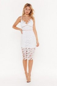 Nasty Gal Womens White I'm All Over the Place Cut-