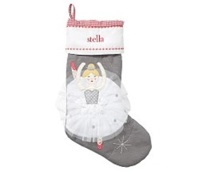 Pottery Barn Quilted Stocking- Ballerina LS