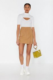 Nasty Gal Womens Mustard Let's Get One Thing Strai