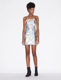Armani DRESS IN IRIDESCENT FAUX LEATHER