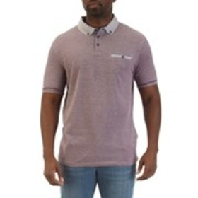 SWISS CROSS Mens Classic Fit Heathered Pique Polo