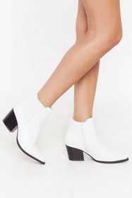 Nasty Gal Womens White Journey to the Western Chel