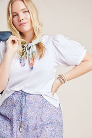 Anthropologie Clemence Ruffled Top