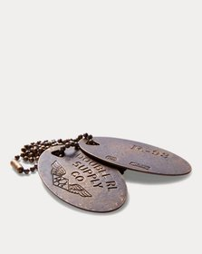 Ralph Lauren Brass Dog-Tag Necklace