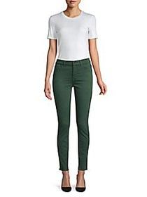 7 For All Mankind Stretch Skinny Jeans ENVY GREEN