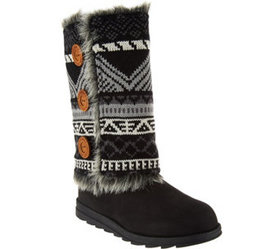 MUK LUKS Andrea 4-in-1 Boot w/Reversible Boot Swea