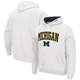 Michigan Wolverines Colosseum Arch & Logo Pullover