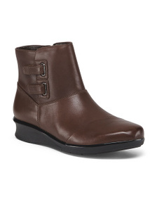 CLARKS Leather Comfort Booties
