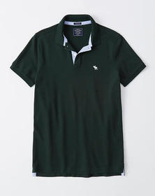Super Slim Icon Polo, DARK GREEN