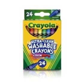 Ultra-Clean Washable Crayons, School Supplies, 24
