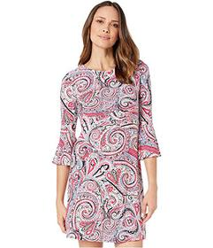 Tommy Hilfiger Paisley Jersey Bell Sleeve