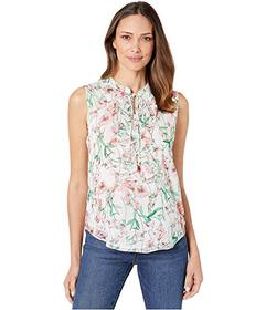 Tommy Hilfiger Floral Ruffle Front Sleeeveless Wov