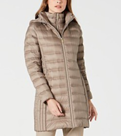 Michael Michael Kors Hooded Packable Down Puffer C