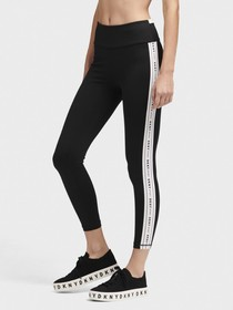Donna Karan HIGH-WAISTED CROPPED LOGO LEGGING