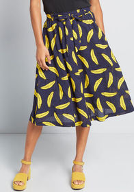 Louche Louche Creative Take Midi Skirt in Navy Ban