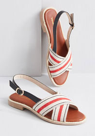 ModCloth ModCloth Charm Crossing Sandal RED/WHITE