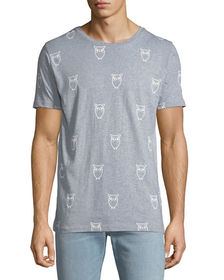 Knowledge Cotton Apparel Men's Allover Owl Print G
