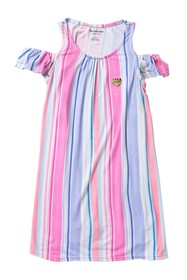 Juicy Couture Cold Shoulder Striped Dress (Little