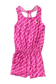 Juicy Couture Logo Print Romper (Little Girls)