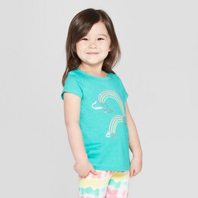 Toddler Girls' Short Sleeve 'Rainbow' Graphic T-Sh