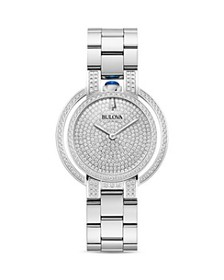 Bulova - Rubaiyat Pavé Diamond Dial Watch, 35mm