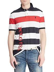 Polo Ralph Lauren Classic-Fit Striped Terry Polo A