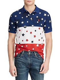 Polo Ralph Lauren Classic-Fit Star Mesh Cotton Pol