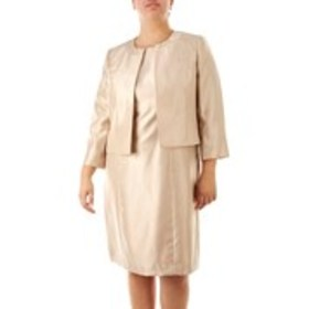 LE SUIT Plus Size Metallic Dress Suit