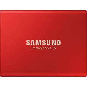 Samsung 500GB T5 Portable Solid-State Drive (Red)