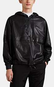 AMI Alexandre Mattiussi Oversized Leather Hooded A