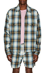 ADAPTATION Checked Cotton Flannel Zip-Front Jacket