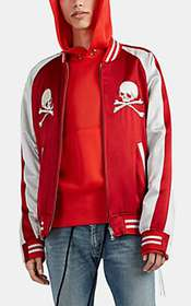mastermind JAPAN Skull-Embroidered Silk Varsity Ja