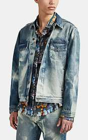 424 X Armes Bleached Denim Trucker Jacket