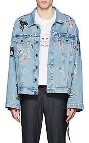 Vetements Sticker-Print Denim Oversized Jacket