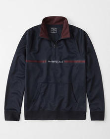 Half-Zip Logo Tape Sweatshirt, NAVY BLUE