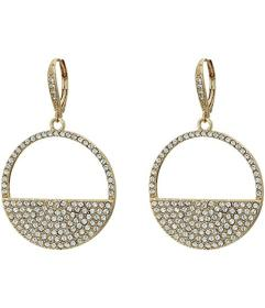 Nina Cut Out Disk Pave Earrings
