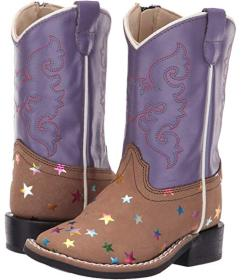 Old West Kids Boots Light Brown
