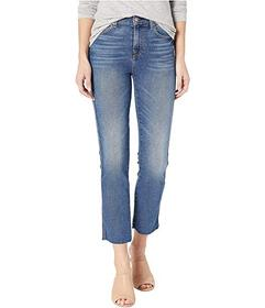 7 For All Mankind Edie with Cut Off Hem and Zip Fl