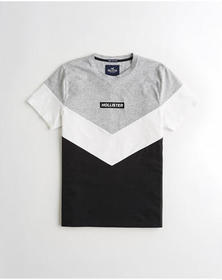 Hollister Colorblock Logo Graphic Tee,