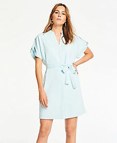 Popover Belted Shirtdress