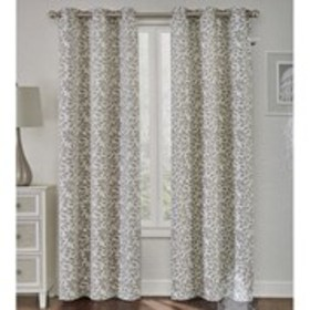 "Set of 2 Floral Jacquard Grommet- Top Panels 38""W"